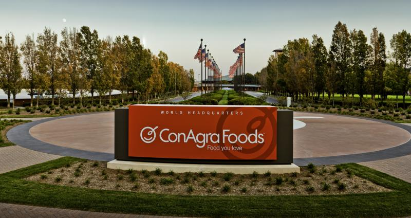 Conagra Brands, Inc. (NYSE:CAG) Net sales decreased 9.9%.