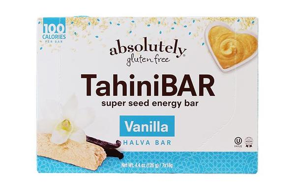 TahiniBAR is a grab-and-go sesame seed snack that weighs in at only 100 calories