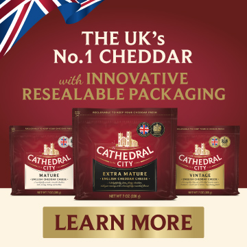 The UK's Number 1 Cheddar - Innovative - Resealable - Packaging - Cathedral City Cheddar