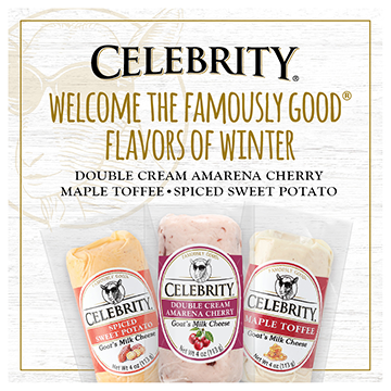 Celebrity - Welcome the Famously Good Flavors of Winter - Double Cream Amarena Cherry - Maple Toffee - Spiced Sweet Potato