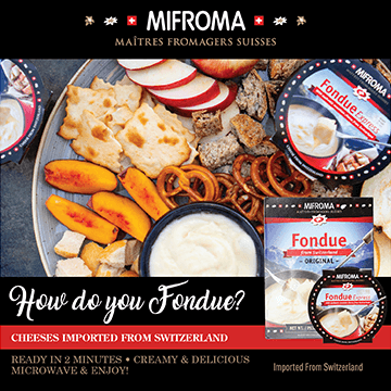 Mifroma - Maitres from Agers Suisses - How do you fondue - Cheeses imported from Switzerland - Ready in 2 minutes - Creamy and delicious - Microwave and enjoy