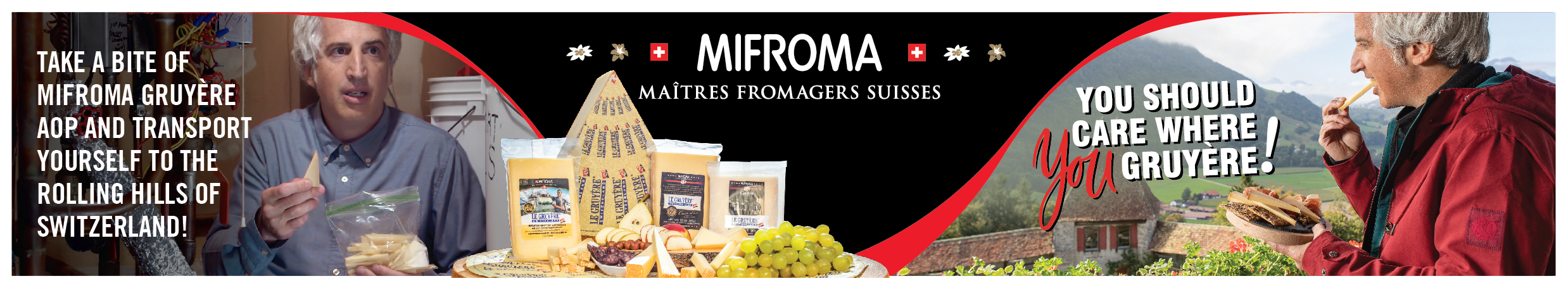 Mifroma - Take a bite of Mifroma Gruyere aop and transport yourself to the rolling hills of Switzerland