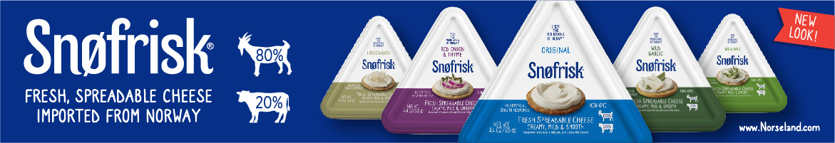 Norseland - Snofrisk - Fresh spreadable cheese imported from Norway