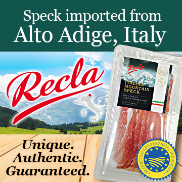 Recla Italian Mountain Flavor - Speck imported from Alto Adige, Italy - Unique - Authentic - Guaranteed