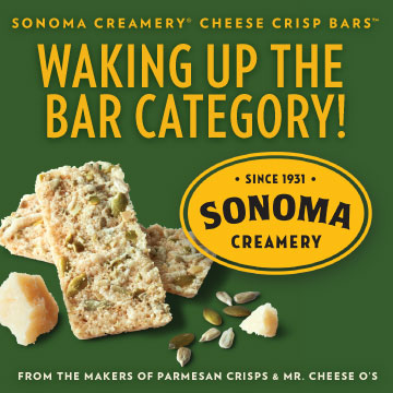 Sonoma Creamery Cheese Crisp Bars - Waking up the bar category - From the makers of parmesan crisps and Mr. Cheese Os