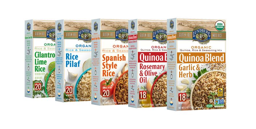 Lundberg Farms quinoa and rice products