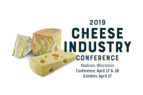 The 2019 Cheese Industry Conference will be held on April 17th-18th, in Madison, Wisconsin