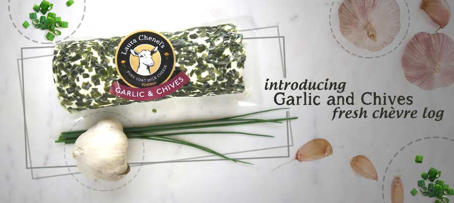 Laura Chenel Adds Garlic and Chives to Its Eight-Ounce Log Lineup
