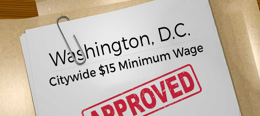 D.C. Lawmakers Approve Citywide $15 Minimum Wage