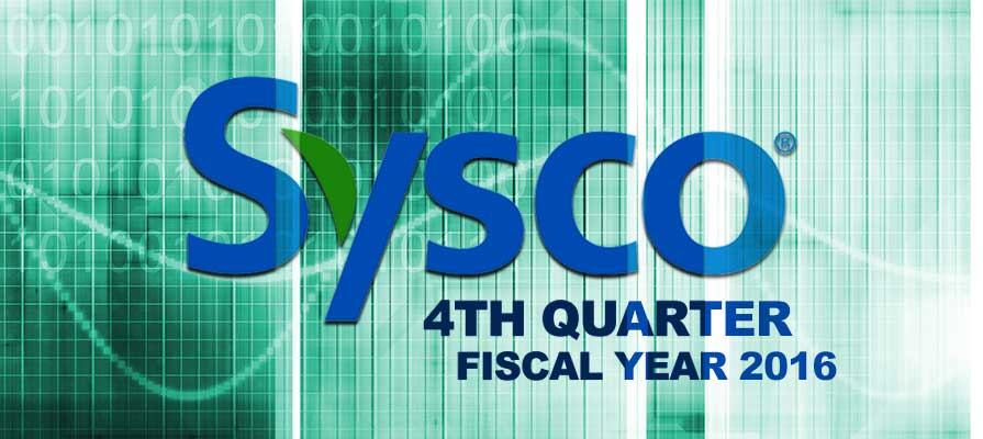 Sysco Beats Wall Street Estimates as it Reports Q4 and FY 2016 Financials