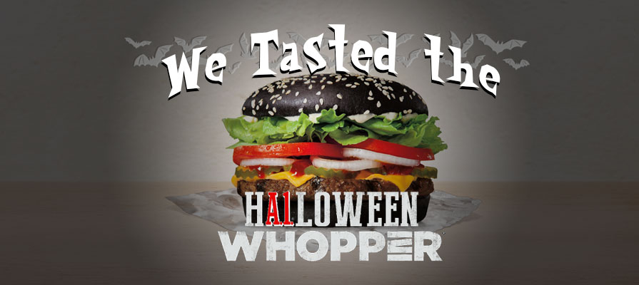 We Tried Burger King's Halloween Whopper