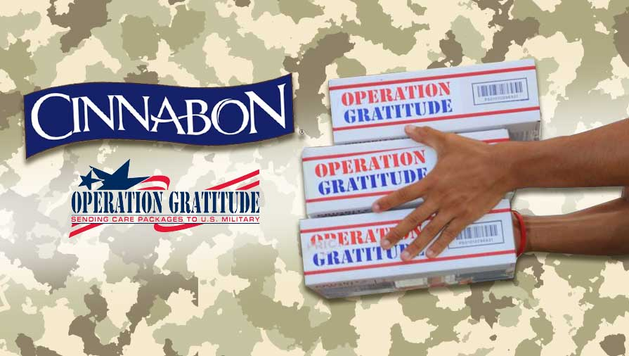 Cinnabon to Donate to Operation Gratitude for Veterans Day