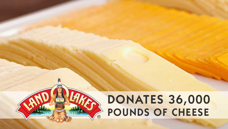 Land O'Lakes is 36,000 Pounds of Cheese Lighter