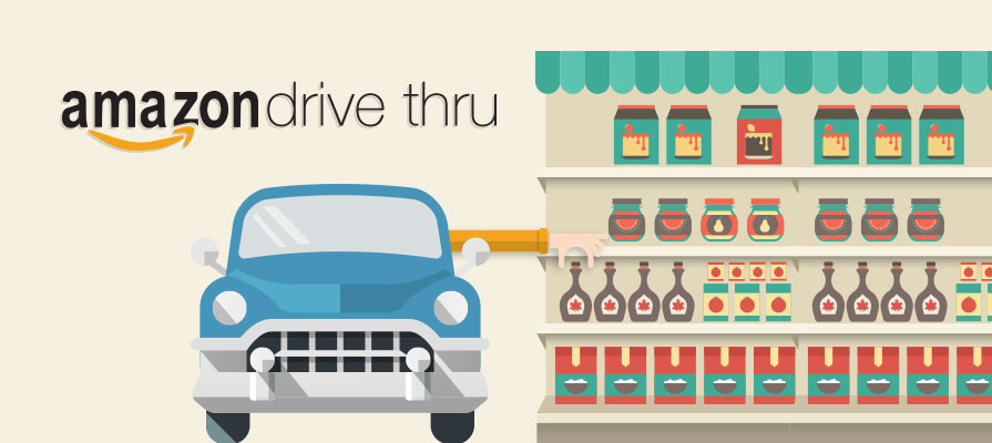 Amazon Looks to Bring a Drive-Thru Format to Grocery Shopping