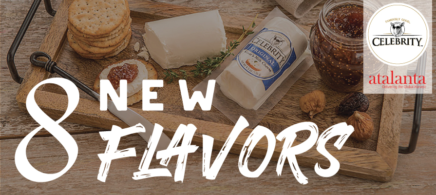 Celebrity® Goat Cheese Debuts Eight New Flavors