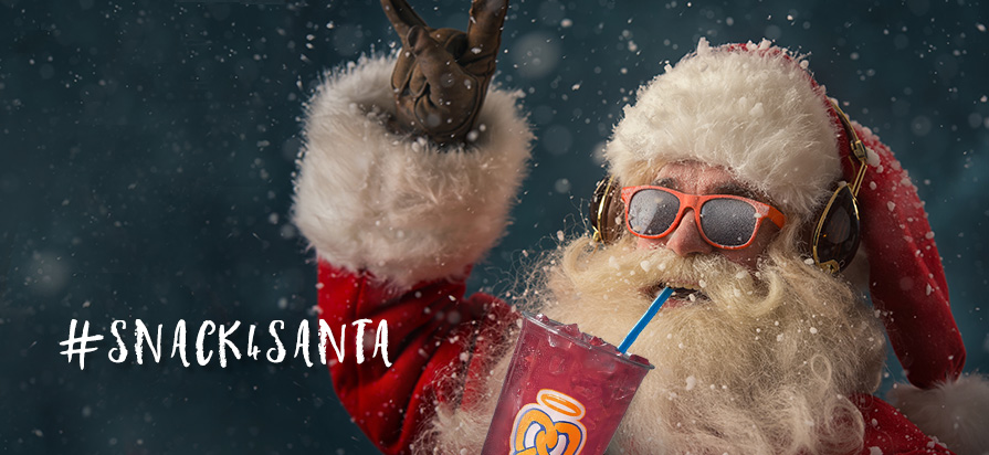 Auntie Anne's Kicks Off #Snack4Santa Holiday Campaign and Debuts New Sugar Plum Lemonade Mixer