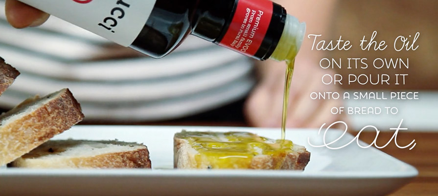 Bellucci Shows How to Sample Extra Virgin Olive Oil