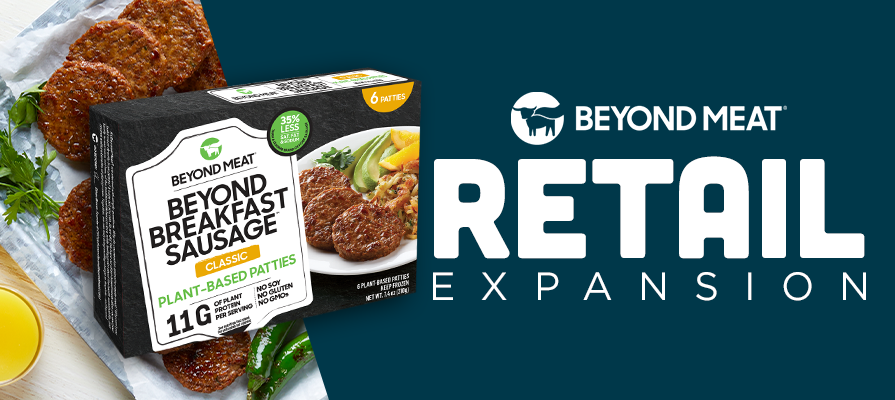 Beyond Meat More Than Doubles its Retail Distribution of Beyond Breakfast Sausage Patties Through Expansion to Kroger, Target, Walmart, Publix, and More