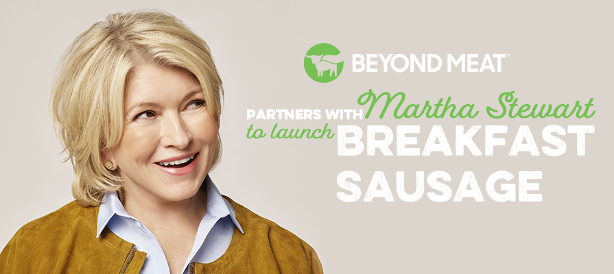 Beyond Meat Partners With Martha Stewart, Launches New Breakfast Sausage