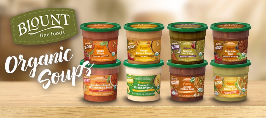 Blount Fine Foods Launches New Line of Organic Soups