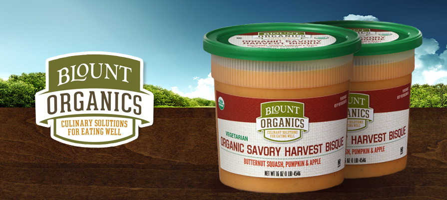 Blount Fine Foods Debuts Organic Savory Harvest Bisque Soup