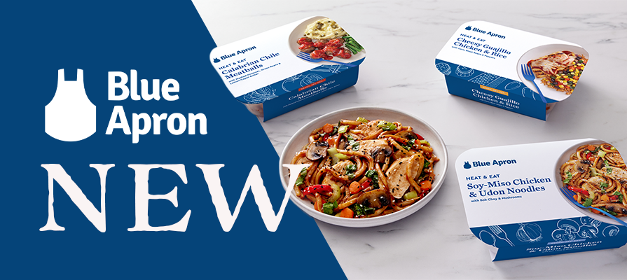 Blue Apron Introduces Heat & Eat, Its First Single-Serving Meals; Linda Findley Kozlowski and John Adler Discuss