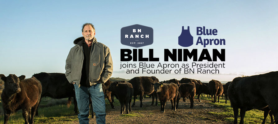 Blue Apron Acquires BN Ranch, Appoints Bill Niman to Executive Position