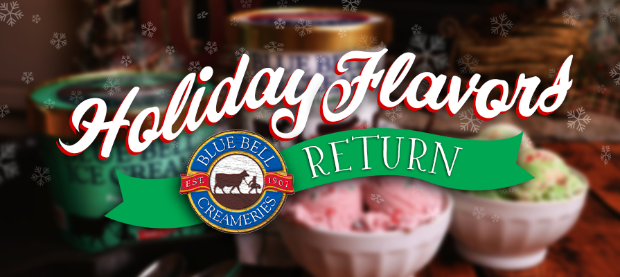 Blue Bell Ice Cream Holiday Favorites Return