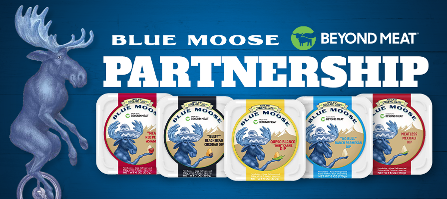 Blue Moose and Beyond Meat Partner for New Cheese Dip Line