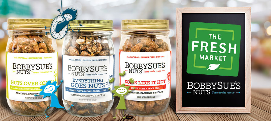 BobbySue's Nuts To Launch In All The Fresh Market Stores