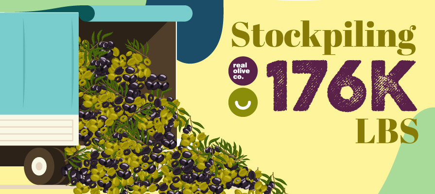 The Real Olive Company Stockpiles 176K Pounds of Olives
