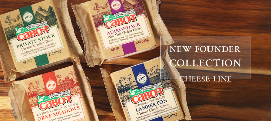 Cabot Creamery Unveils its New Founder Collection Cheese Line