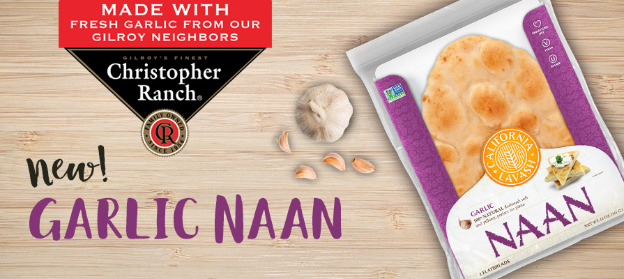 California Lavash Adds Garlic Naan to Its Line