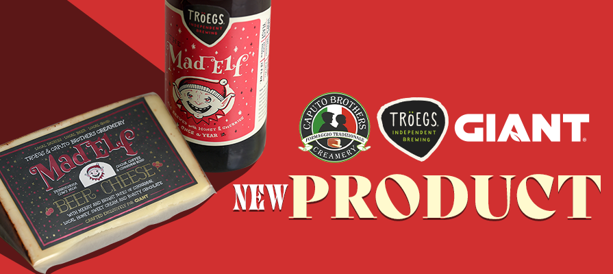 Caputo Brothers Creamery Partners With Tröegs Independent Brewing to Release Limited Edition Mad Elf Beer Cheese at The GIANT Company