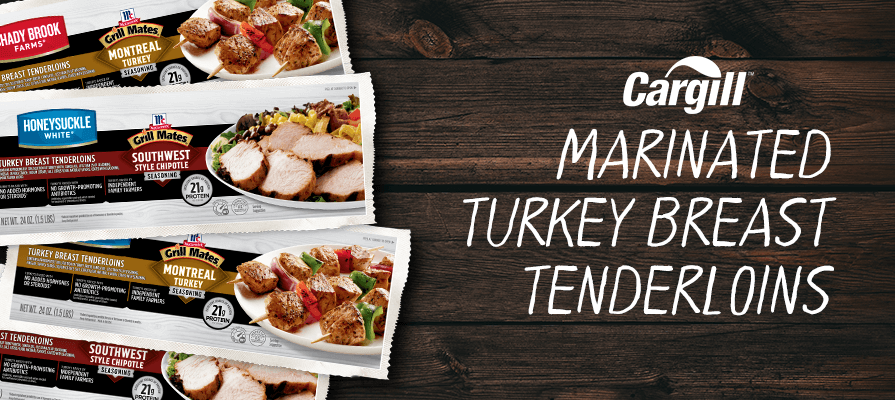 Cargill Launches New Grill Mates® Marinated Turkey Breast Tenderloins