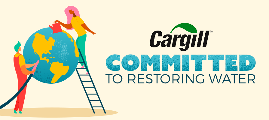 Cargill Commits to Saving 600B Liters of Water by 2030