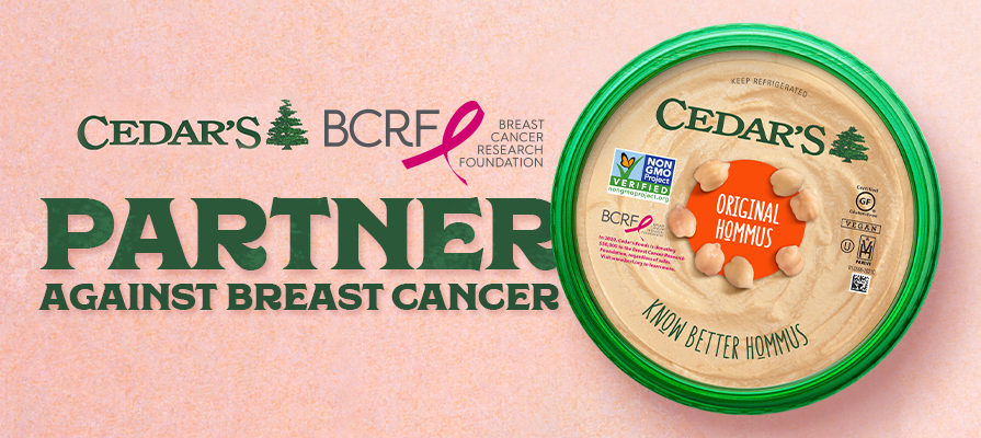 Cedar's Foods Teams Up With the Breast Cancer Research Foundation