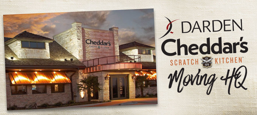 Darden to Move Newly-Acquired Cheddar's Headquarters to Orlando, Florida