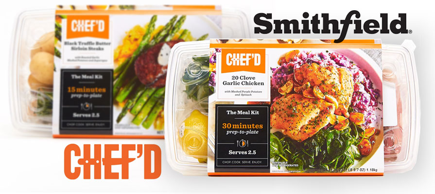Chef'd Partners with Smithfield Foods to Launch Meal Kits in Stores Nationwide