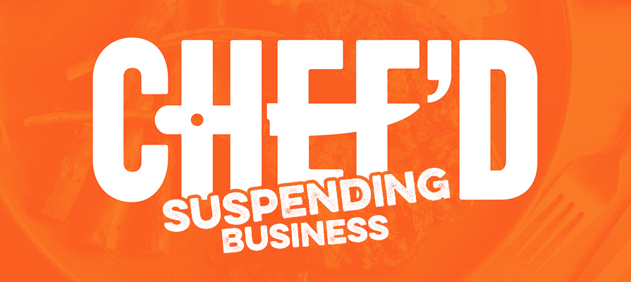 Chef'd Suddenly Shuts Down, Immediately Ceasing Operations