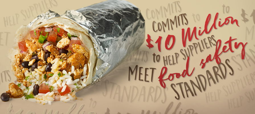Chipotle Commits $10 Million to Help Suppliers Meet Food Safety Standards