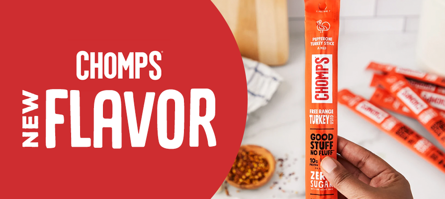 Chomps Adds a New Bold Flavor to Its Lineup of Better-For-You Meat Snacks: Pepperoni Turkey