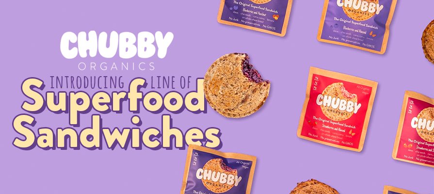 Chubby Organics Announces the Launch of No Junk Nut Butter and Jam Sandwiches