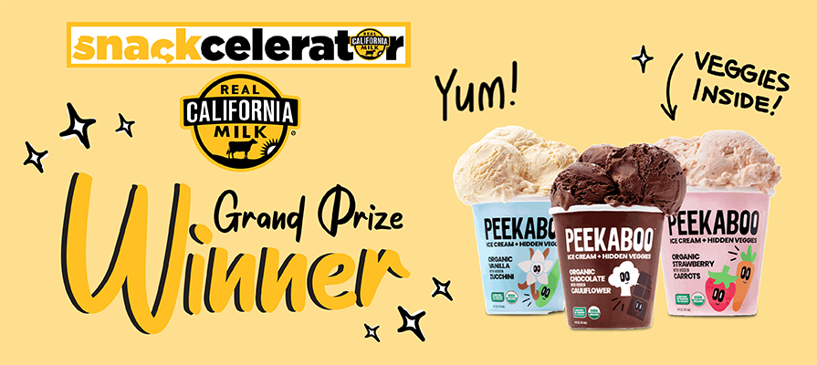 Peekaboo Organics Wins Real California Milk Snackcelerator Competition With Ice Cream Featuring Hidden Veggies