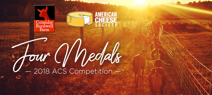 Consider Bardwell Farm Awarded Four Medals at 2018 ACS Competition