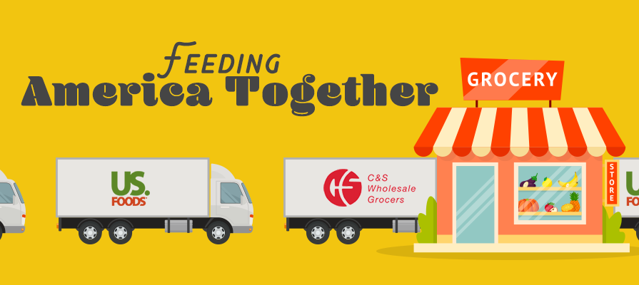 C&S Wholesale Grocers and US Foods Tackle the Feat to Feed America Together