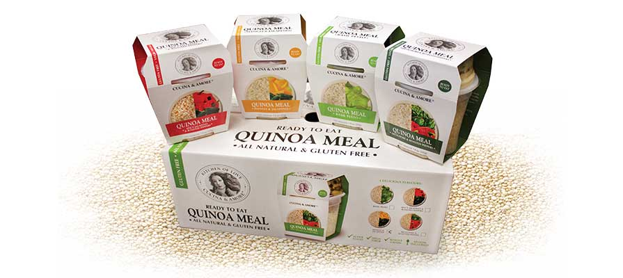 cucina & amore's quinoa meal line enjoys success | deli market news - Cucina On Line