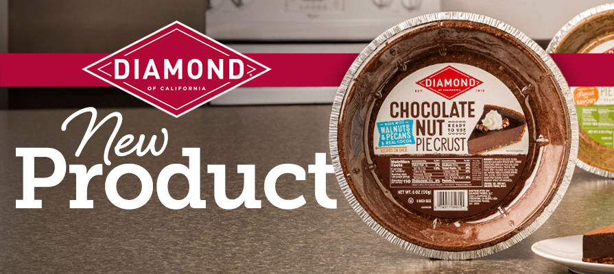 Diamond of California®'s Ready-To-Use Nut Pie Crusts Are Now Available in a New Chocolate Flavor, Nationwide