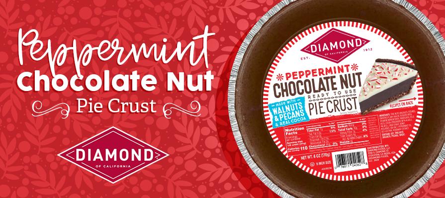Diamond of California Launches Peppermint Chocolate Nut Pie Crust at Walmart