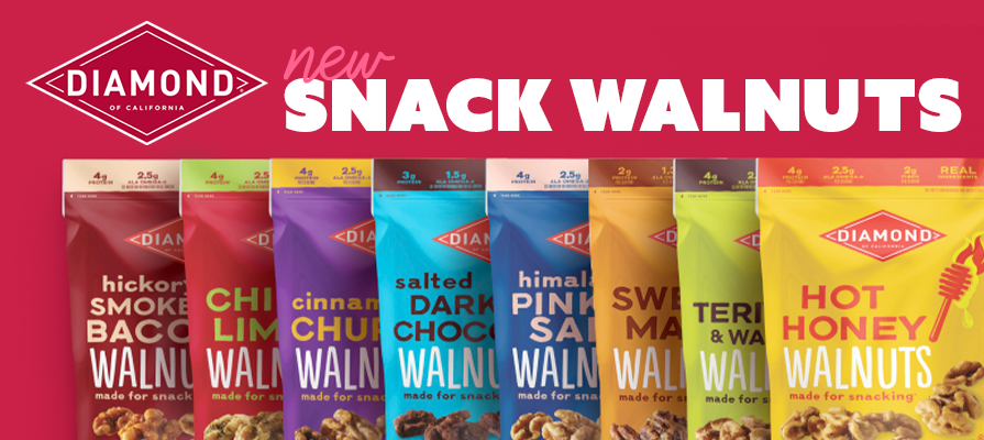 Diamond of California® Launches Ready-to-Eat Snack Walnuts Line